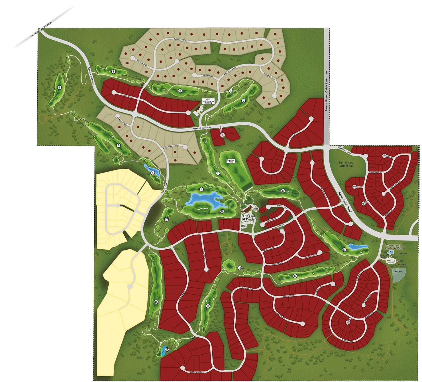 pradera map