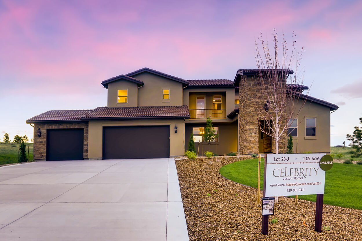 Brand New Celebrity Custom Home For Sale Near Denver- Front View