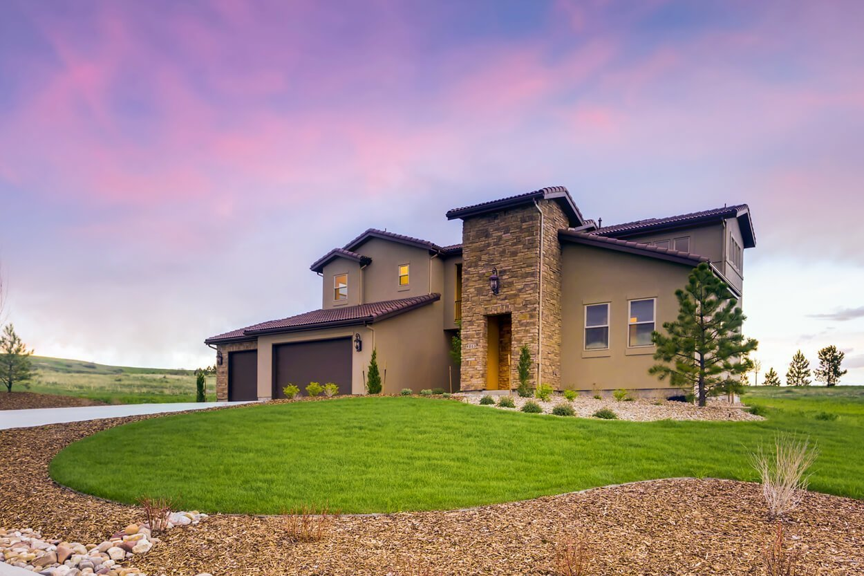 Brand New Celebrity Custom Home For Sale Near Denver- Front Diagonal View