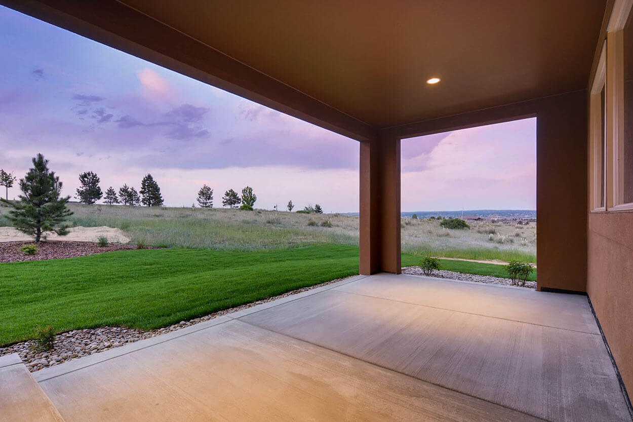 Large Patio and Backyard in Parker Luxury Home