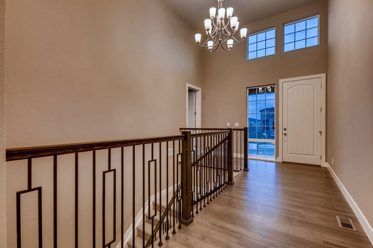 Staircase Landing From Basement in Ranch Style Home